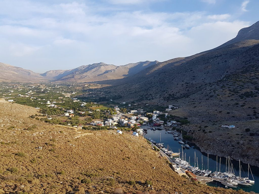 הנוף מראש ההר במהלך הפלוטילה ליוון 2016