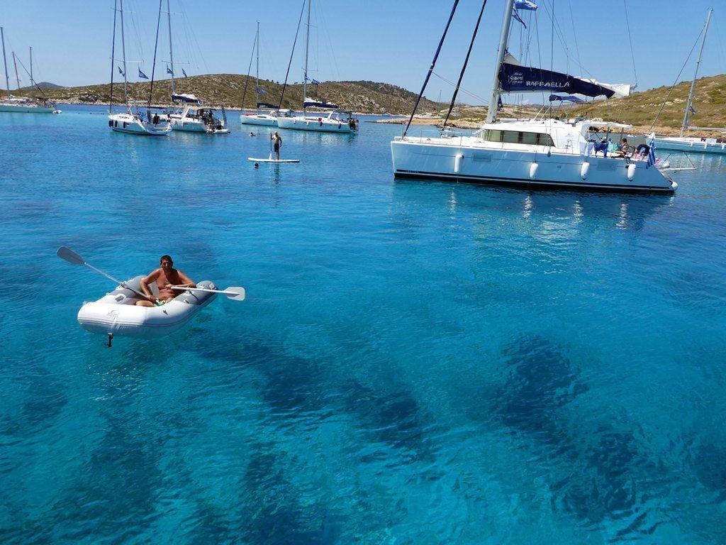 ים צלול בחופי יוון דינגי - פלוטילה 2016